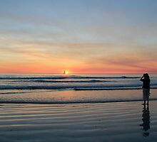 solitary moment on cable beach by nicole makarenco