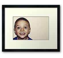 Happy! Framed Print