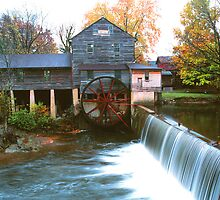 OLD MILL,AUTUMN by Chuck Wickham