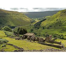 Crackpot Hall and Swaledale Photographic Print