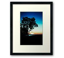 Setting the Sun. Framed Print