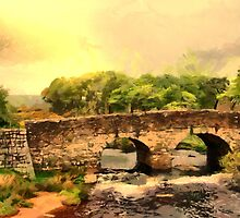 Beautiful Britain - Postbridge Packhorse Bridge on Dartmoor by Dennis Melling