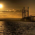 Severn Bridge Sunset by Rob Hawkins