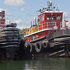 Two Tugs by Tom Allen