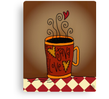 Java Love Canvas Print
