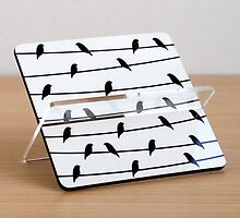 business card holder printed bird on a wire design by artiseverything