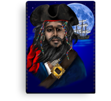 Pirate and Ship Canvas Print