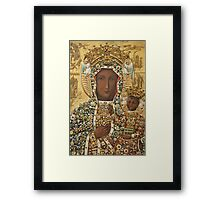 Our Lady of Czestochowa Bejeweled Picture Framed Print