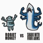 Robot Monkey VS Shark with 4 arms by Tamz S