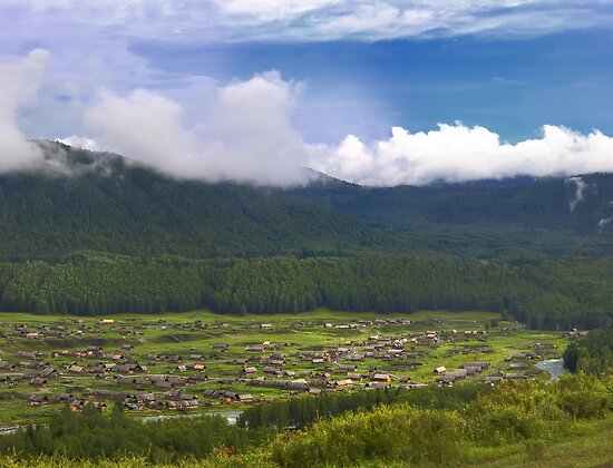 Hemu village, Xinjiang, China by woqisiyasi