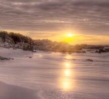Silver Sunrise - Jeanneret beach  Bay of Fires by Ben Swanson