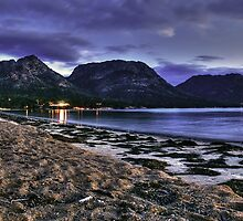 Last light - The Hazards over looking Richardson beach  by Ben Swanson
