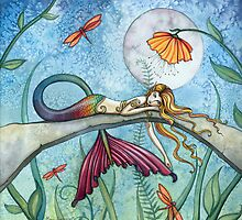"""Down by the Pond"" Mermaid Art by Molly Harrison by Molly  Harrison"