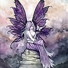 """Letting Go"" Fairy Art with White Butterfly by Molly  Harrison"
