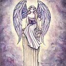 """Angel's Perch"" Angel Art by Molly Harrison by Molly  Harrison"