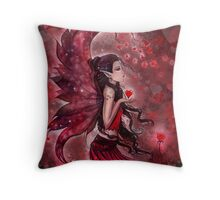 """""""Hearts"""" Valentine Heart Fairy by Molly Harrison Throw Pillow"""