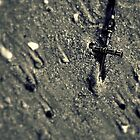 Cross in the Sand by Kevin Stauss