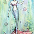 """Bubbles"" Mermaid Art by Molly Harrison by Molly  Harrison"