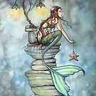 """Mermaid's Perch"" Mermaid Art by Molly Harrison by Molly  Harrison"