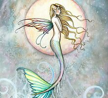 """First Taste of Sky"" Mermaid Art by Molly Harrison by Molly  Harrison"
