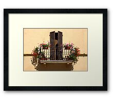Sun-drenched Balcony Framed Print