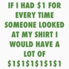 MY DOLLAR SHIRT!!!! by Geisel Ellis