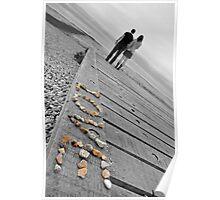 Love, black & white. Poster