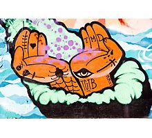 Abstract Graffiti detail with hands. Photographic Print