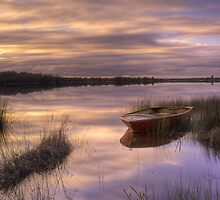 Boat in the Sky - Grants Lagoon Bay of Fires by Ben Swanson
