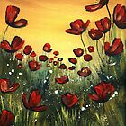 Red Poppy Field by Cherie Roe Dirksen