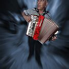 Accordian Man by Peter Hammer