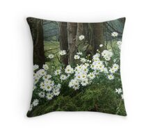 Sheltering daisies. Throw Pillow