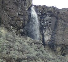 Water over rimrocks, Brogan, OR, USA by suepete
