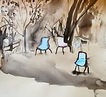 chairs on coloured paper by donnamalone