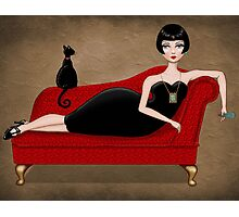 red couch Photographic Print