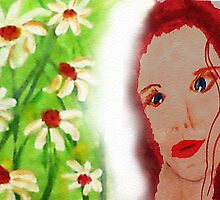 Revised in photshop , Carrie, watercolor by Anna  Lewis