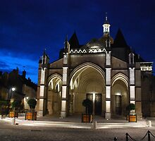 Beaune Basilica at Night by Mark Whittle