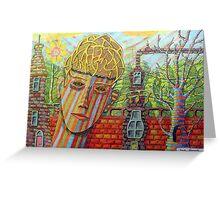 342 - FANTASY FACE - DAVE EDWARDS - COLOURED PENCILS - 2011 Greeting Card