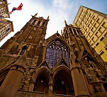 First Presbyterian Church, Front View: Color Version by creativeburn