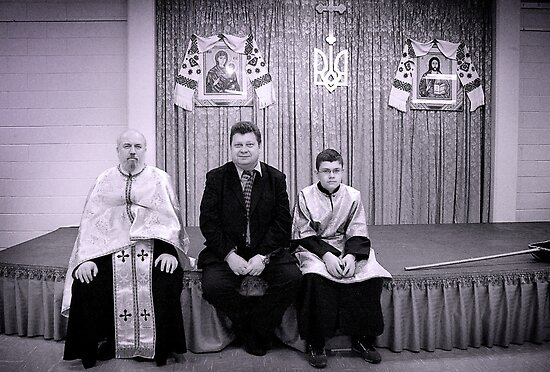 The Priest, the Cantor and the Altar Boy. by Yuri Lev