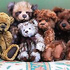 Teddies in a huggle! by Audrey Clarke