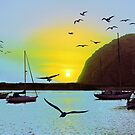 Sunset in Morro Bay by Igor Shrayer