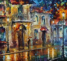 Lonely night - Leonid Afremov by Leonid  Afremov