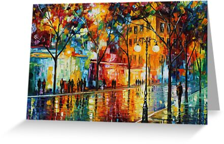 The tears of the fall - Leonid Afremov by Leonid  Afremov