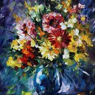 Flowers to my love - Leonid Afremov by Leonid  Afremov