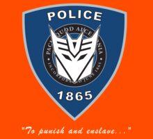 Transformers - Police Logo - Medium Size Logo Kids Clothes