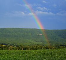 Short Mountain Rainbow HDR - Massanutten Range, Va. by James Brotherton