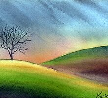 Lonely tree by Karin Zeller