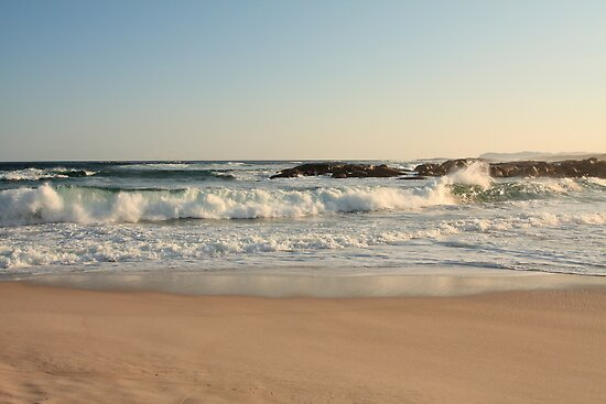 Waves at Lights Beach by Elaine Teague