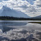 Mount Rundle & Vermillion Lake by Teresa Zieba